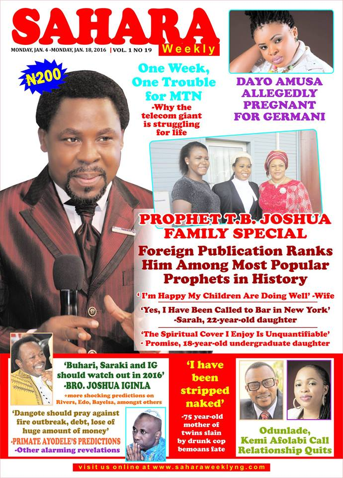 "TB Joshua Family Special: ""Yes, I have been called to bar in New"