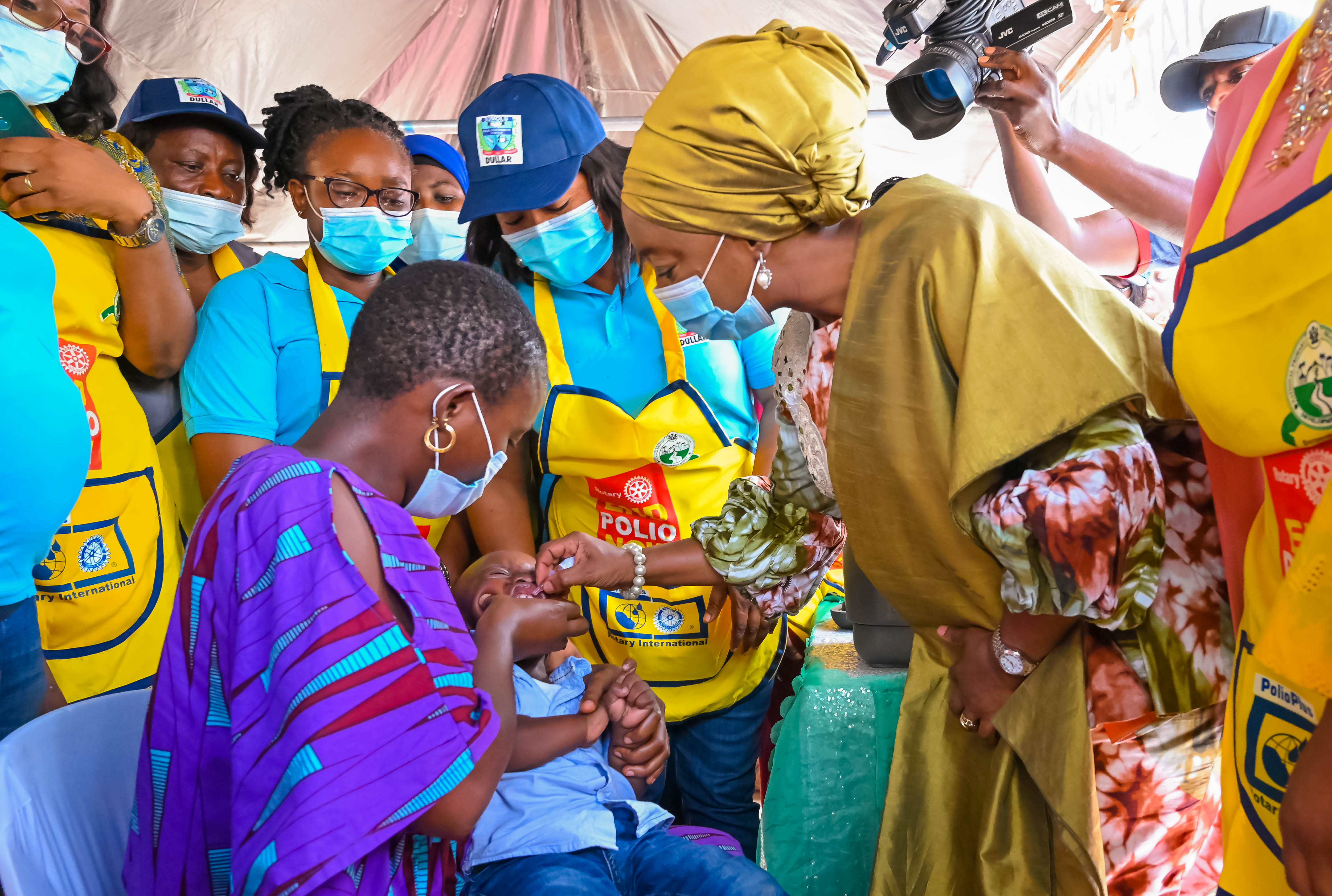 Lagos First Lady, Dr Ibijoke Sanwo-Olu Flags Off Polio Vaccination For Children In Five LGAS
