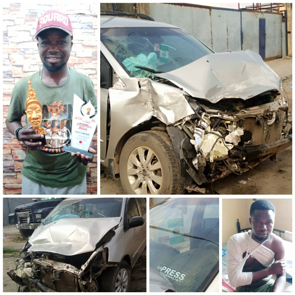 Award winning society journalist who is the publisher of High Celebrities Squard Magazine, Quadri Olowolagba and crew were involved in a fatal accident two weeks ago.