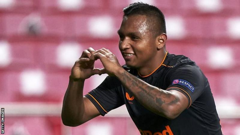 Sadly, Alfredo Morelos became Rangers' top European goal scorer but his team were dramatically pegged back in added time by 10-man Benfica in Lisbon.