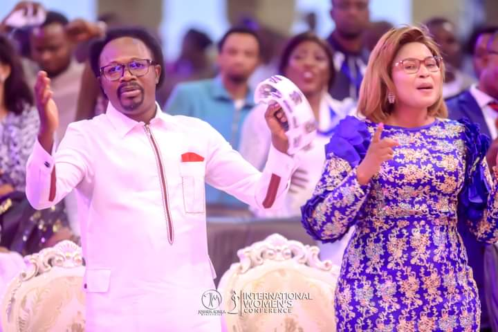 'You Saved Me From Committing Suicide' – Prophet Joshua Iginla Tells Wife During Church Anniversary