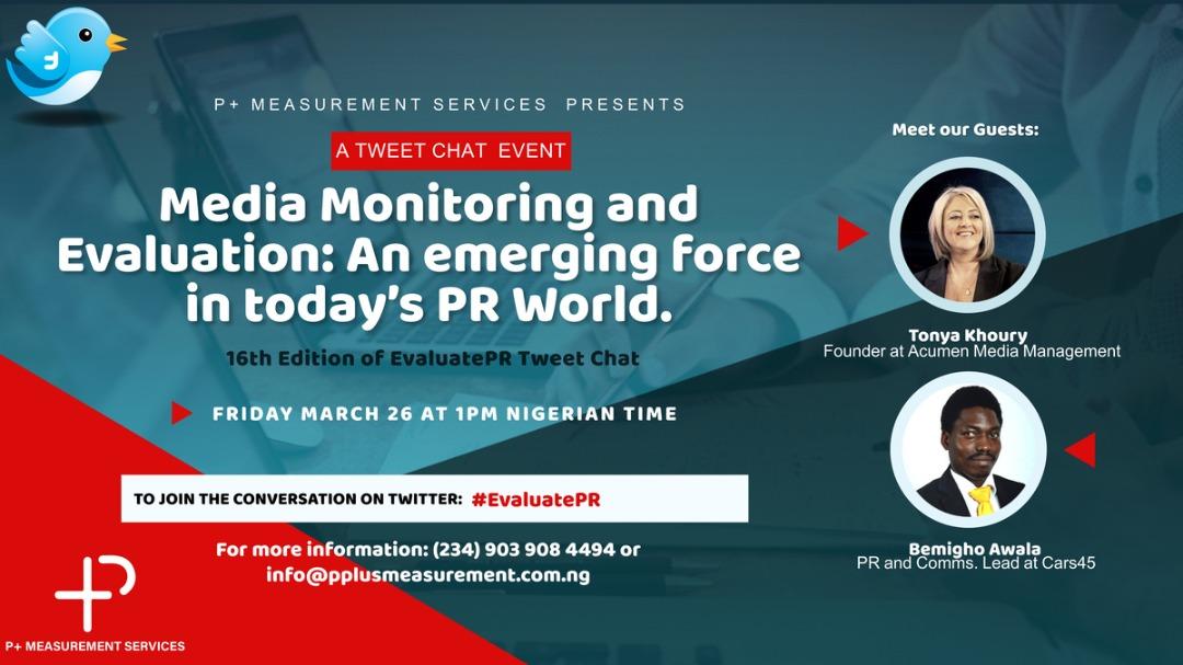 P+ Measurement Services hosts 16th Edition of #EvaluatePR Tweetchat