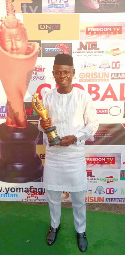 Omonaijablog Publisher Gbenga Shaba, Wins 2020/2021 YOMAFA GLOBAL Awards